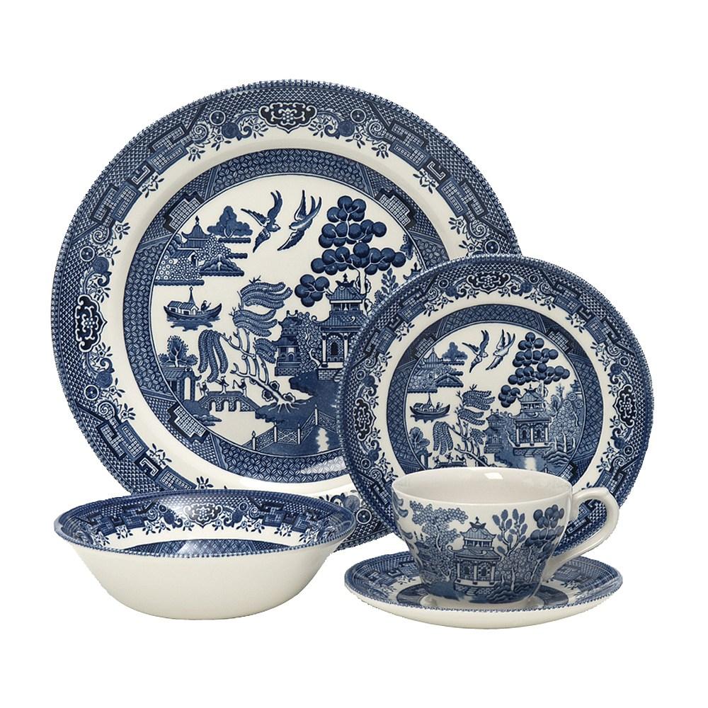Churchill Blue Willow 20 Piece Dinner Set. click to enlarge ?  sc 1 st  Shop Cookware & Churchill Blue Willow 20 Piece Dinner Set   shopcookware.ie