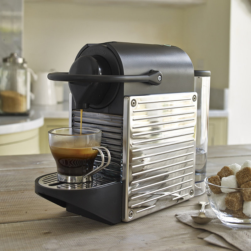 krups pixie nespresso coffee maker stainless steel. Black Bedroom Furniture Sets. Home Design Ideas