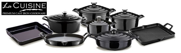 La Cuisine Elysee Black Casserole Collection