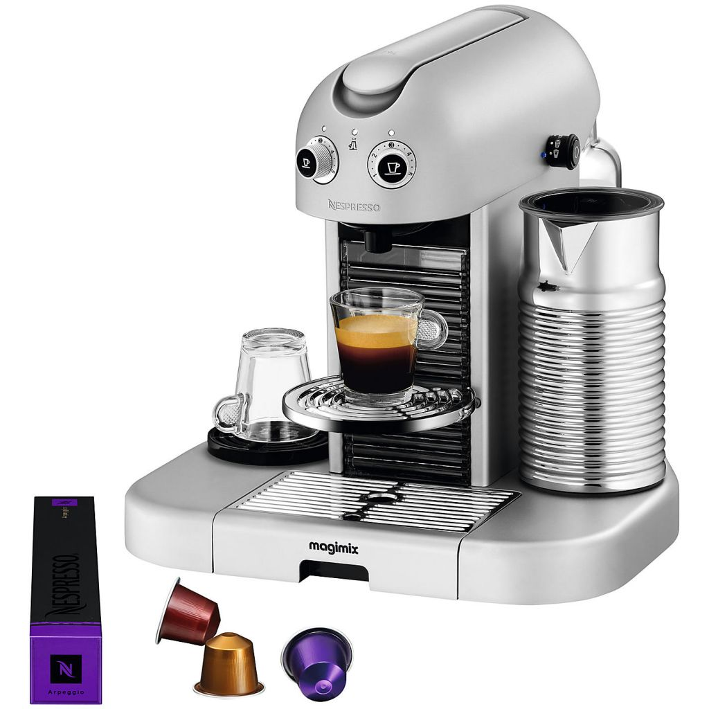 magimix gran maestria nespresso machine platinum. Black Bedroom Furniture Sets. Home Design Ideas