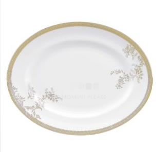 Vera Wang Lace Gold Oval Dish 39CM