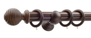 50mm Monarch Earl Antique Walnut Complete Curtain Pole Set 160CM