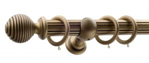 50mm Monarch Earl Bronze Complete Curtain Pole Set 160CM