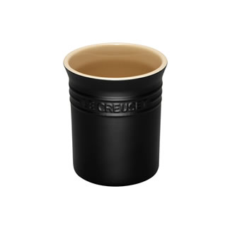 Le Creuset Stoneware Small Utensil Jar - Satin Black