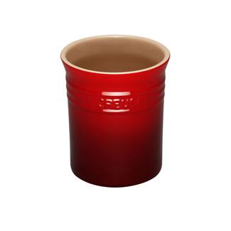 Le Creuset Stoneware Small Utensil Jar - Cerise
