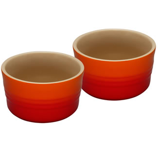 Le Creuset Set of Two Ramekins - Volcanic