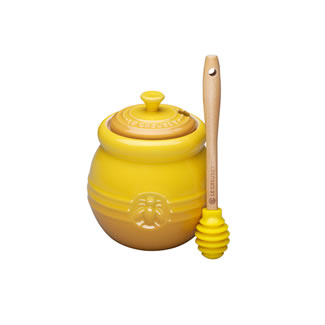 Le Creuset Honey Pot and Silicone Dipper