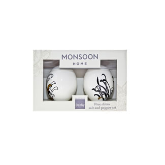 Denby Monsoon Chrysanthemum Salt and Pepper Pot Set