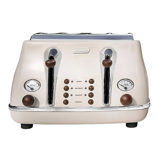 Delonghi Icona VIntage 4-Slice Toaster - Cream