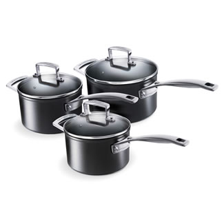 Le Creuset Toughened Non-Stick 3 PCE Saucepan Set