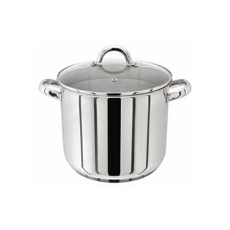 Judge Stainless Steel Stockpot with Glass Lid - 20CM (5L)