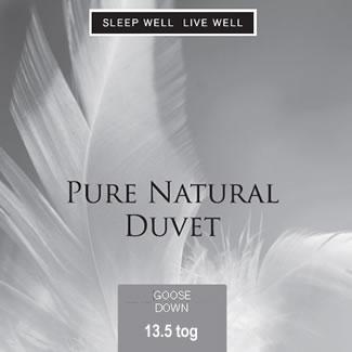 Sleep Well Live Well 13.5 Tog Goose Down Duvet  - Single 135 x 200cm