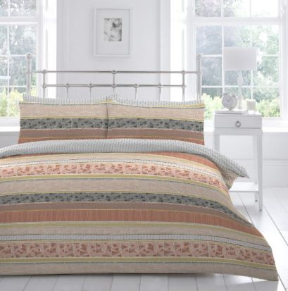 Appletree Desert Stripe Duvet Cover Set - Superking
