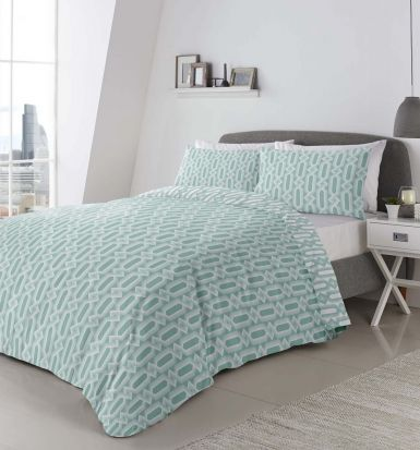 Appletree Jax Mint Duvet Cover Set - King
