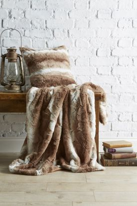 Behrens Faux Fur Throw Natural 130x180cm