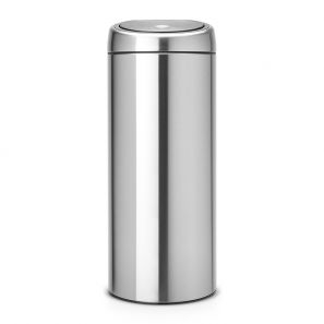 Brabantia 30L Touch Bin Matt Steel Finger Proof