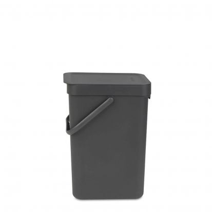Brabantia Sort & Go Waste Bin 12-Litre Grey Main