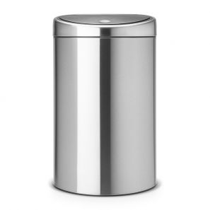 Brabantia Twin Bin 23/10 Litre - Matt Steel with Fingerproof Lid