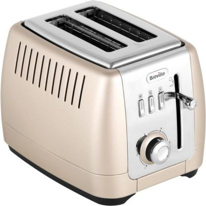 Breville Strata Luminere 2 Slice Toaster - Platinum