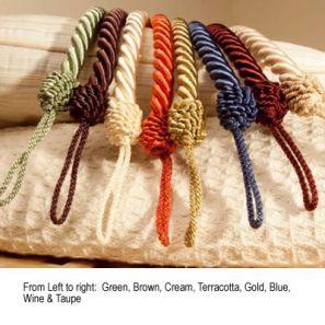 Cameo Rope Blue Tieback