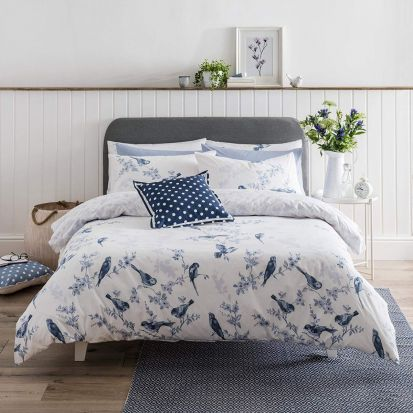Cath Kidston British Birds Blue Duvet Cover Set - Double