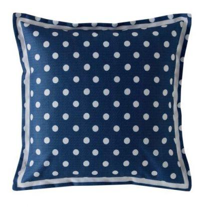 Cath Kidston Button Spot Navy Filled Cushion