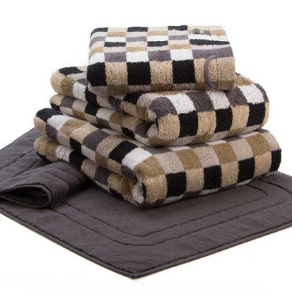 Cawo Lifestyle Karo Stone - Hand Towel