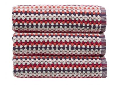 Christy Carnaby Stripe Bath Sheet - Berry