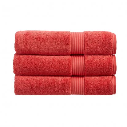Christy Supreme Hygro Towelling Bath Mat - Coral
