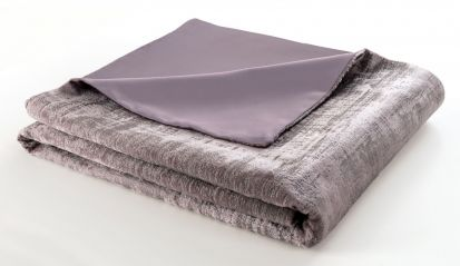 Clarke & Clarke Naples Heather Velvet Throw - 130cm x 230cm