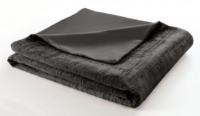 Clarke & Clarke Naples Smole Velvet Throw - 130cm x 230cm