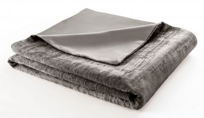 Clarke & Clarke Naples Taupe Velvet Throw - 130cm x 230cm
