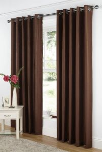 Curtina Java Readymade Eyelet Curtains Chocolate 66