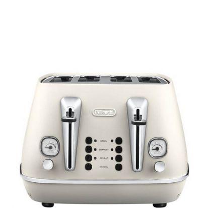Delonghi Distinta 4 Slice Toaster - White