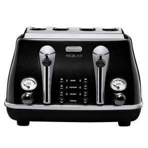 Delonghi Icona Micalite 4 Slice Toaster - Black