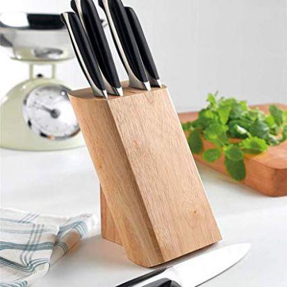 Denby 5 Piece Knife Block Set in Beech Block