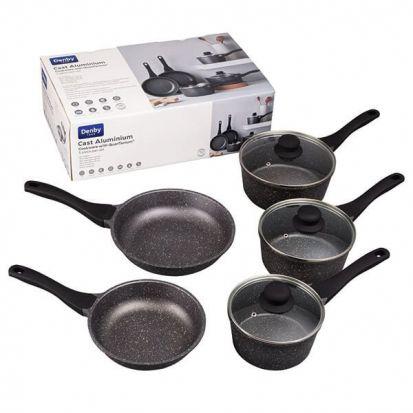 Denby Cast Aluminium 5 Piece Cookware Set