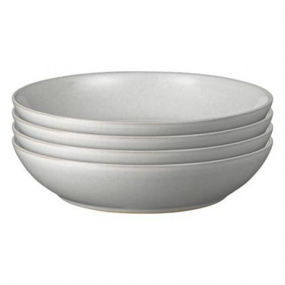Denby Intro Soft Grey 4 Piece Pasta Bowl Set