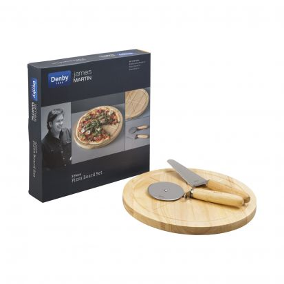 Denby James Martin Pizza Board & Cutter Set