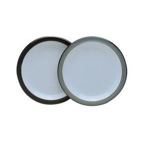 Denby Jet Grey Dessert Plate