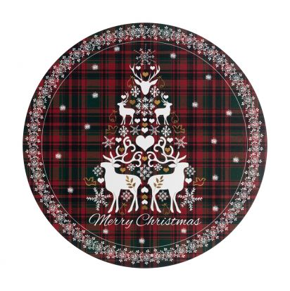 Denby Merry Christmas Tartan Round Set of 6 Placemats
