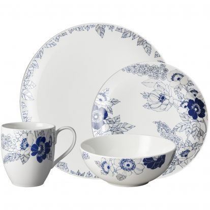 Denby Monsoon Fleur 16 Piece Box Set