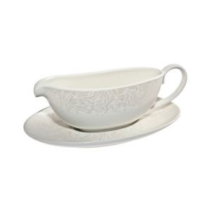 Denby Monsoon Lucille Gold Sauce Jug & Stand
