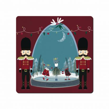 Denby Nutcracker Snowglobe Square Placemats Set of 6