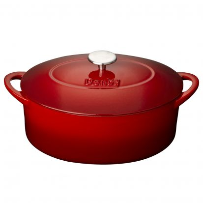 Denby Pomegranate Cast Iron 28cm Oval Casserole