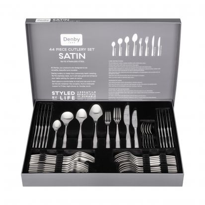 Denby Satin 44 Piece Cutlery Set