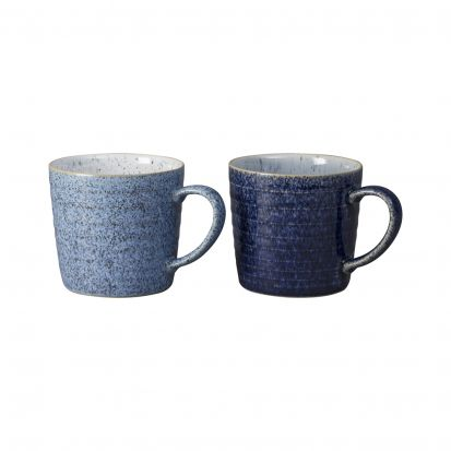 Denby Studio Blue 2 Piece Ridge Mug Set