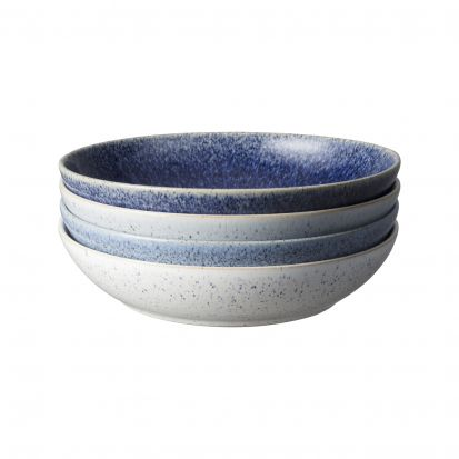 Denby Studio Blue 4 Piece Pasta Bowl Set