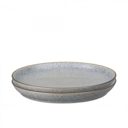 Denby Studio Grey Set of 4 Coupe Dinner Plates
