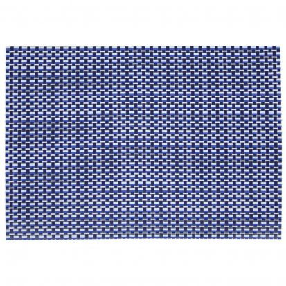 Denby Woven Vinyl Rectangular Placemat Imperial Blue